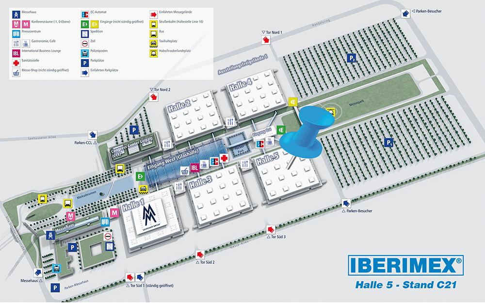 Intec 2019 Hallenplan Iberimex